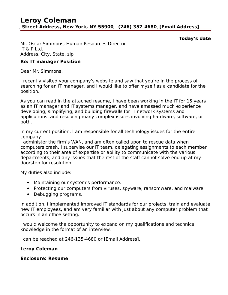 Project Coordinator Cover Letter Sample