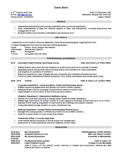 Resume Format Examples of Resume Format - Different Formats Of Resumes