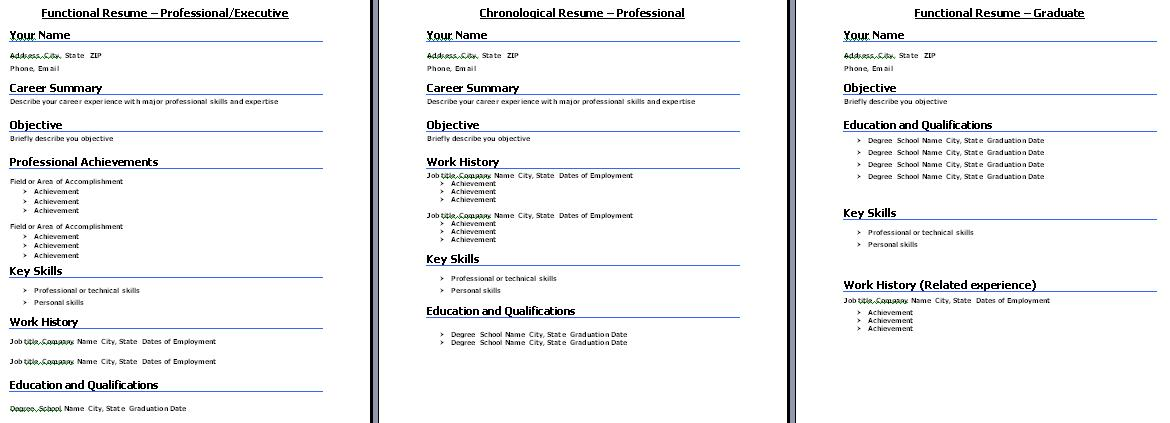 Standard Resume Formats What Resume Format to Choose - winning resume formats