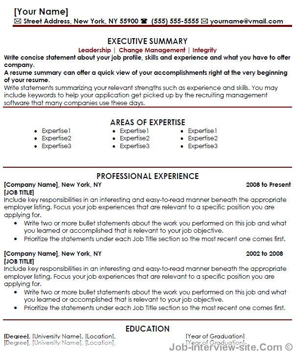 Free 40 Top Professional Resume Templates - resume templates for executives