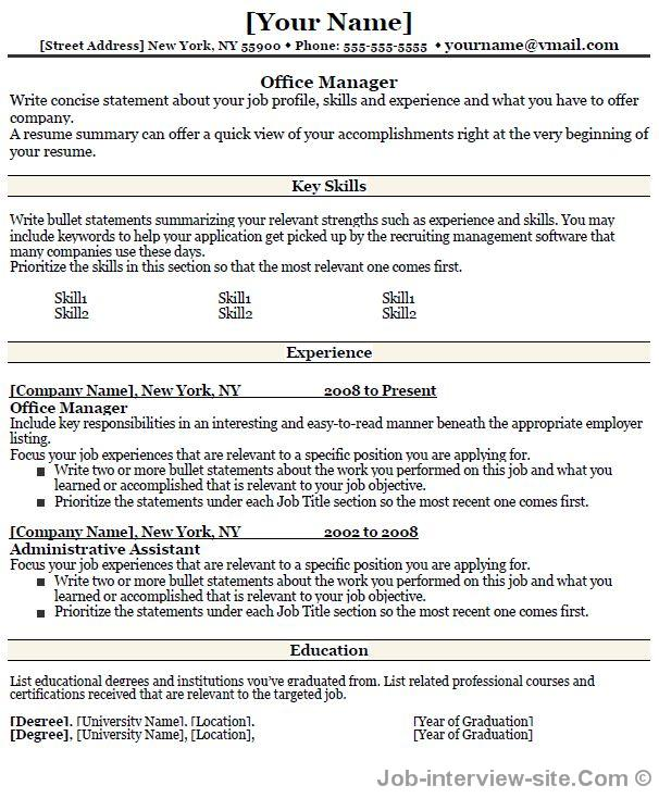 Free 40 Top Professional Resume Templates - Administrative Manager Resume