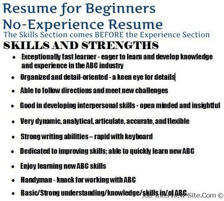 The No-Experience Resume Style How to Create a Solid Resume with No - how to write a resume for a job interview