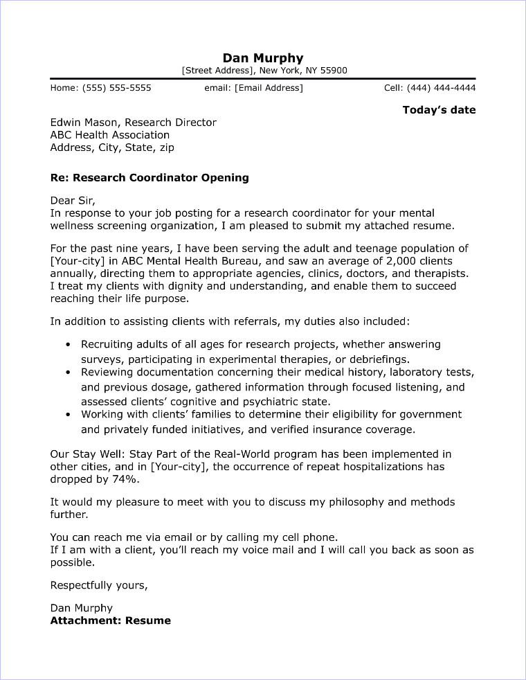 Lab Technician Cover Letter Sample