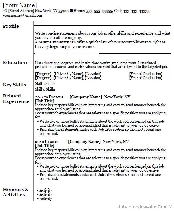 Free 40 Top Professional Resume Templates - what is the format of a resume