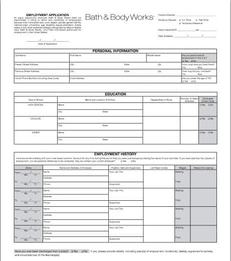 Bed Bath Beyond Job Application Form Online | Professional resumes ...
