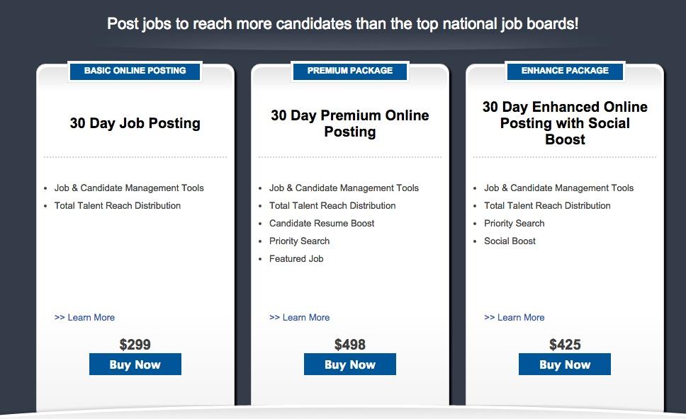 pricing Job Board Consulting - job boards consultant