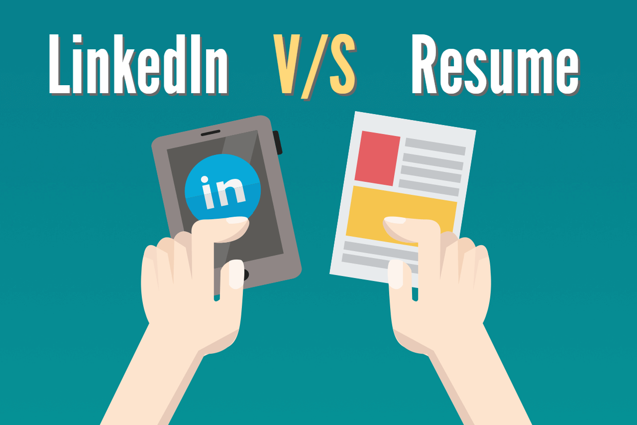 resume vs linkedin