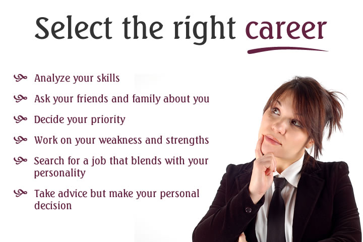 7 Powerful Tips to Select The Right Career #CareerTips JobCluster