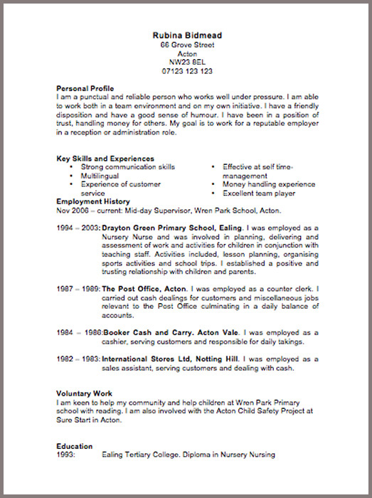cv template england - Onwebioinnovate - Samples Of Cv Format