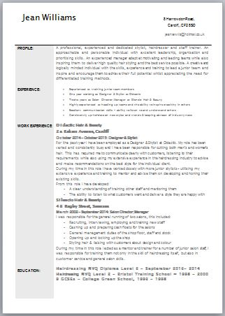 How To Write My Cv Uk Sample Service Resume