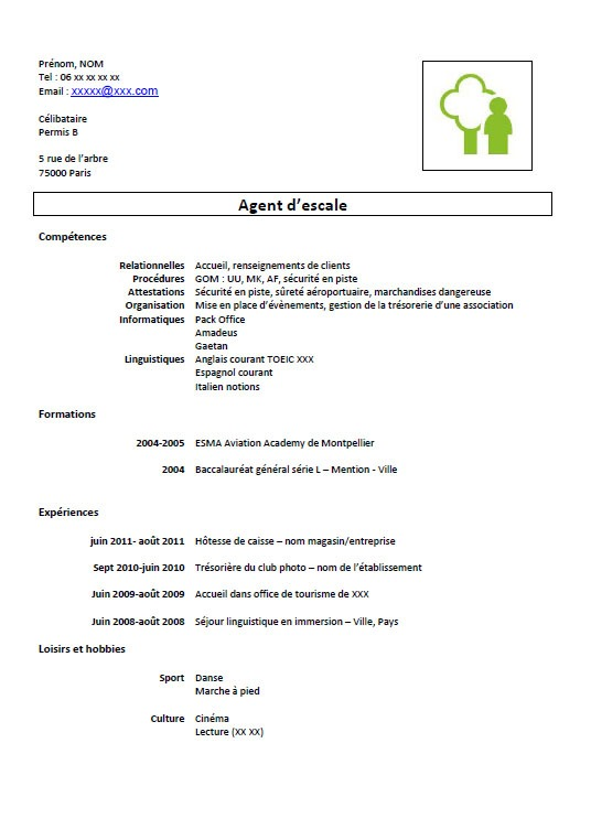 exemple de cv d agent de production