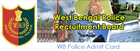 WB Police Admit Card Available at policewb.gov.in