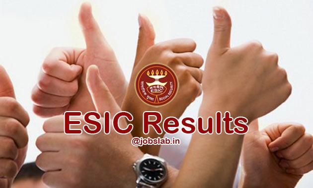 ESIC Result 2016 Check ESIC Clerk UDC MTS Steno Merit List online