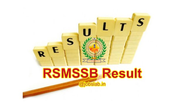 RSMSSB Result 2016 Check Livestock Assistant Merit List