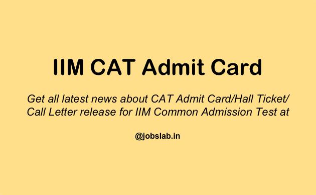 CAT Admit Card 2016 - Download IIM CAT 2016 Admit Card from 18 OCT 2016