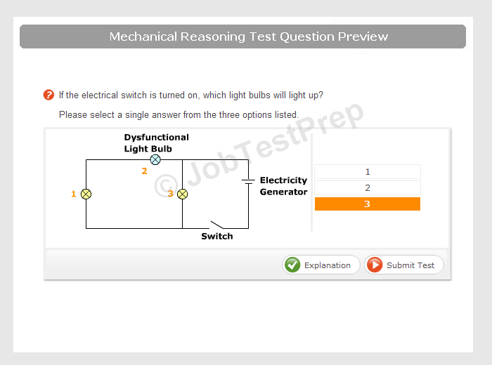 mechanical reasoning tests electricity