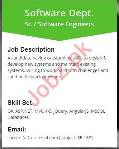 Senior Software Engineer Job in karachi 2019 Job Advertisement Pakistan
