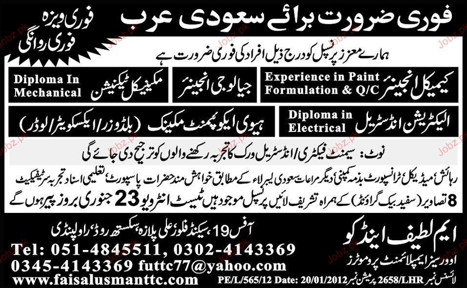 Chemical Engineer, Geology Engineer Job Opportunity 2019 Job