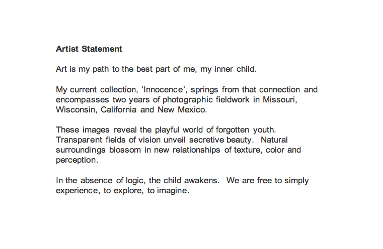Artist Statement Template Artist Statement Examples 8 Free Pdf - sample artist statement