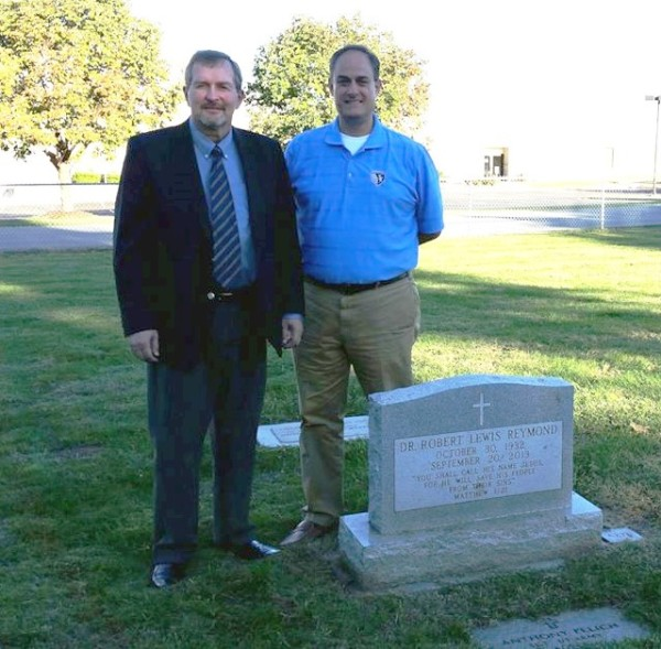 With Robert Reymond at the Grave of His Father