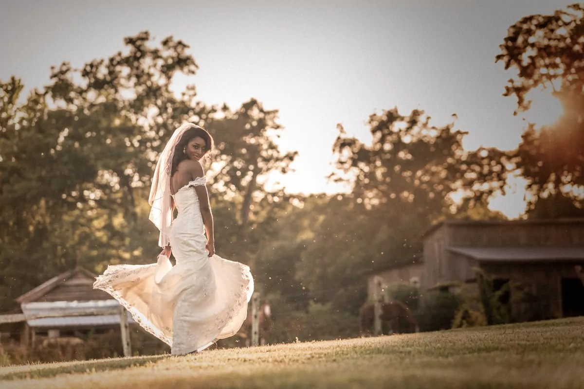 raleigh wedding photographer sunset bride dance