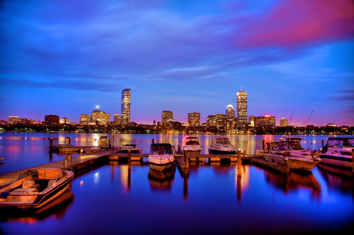American Wallpaper Fall River Boston Skyline On The Charles River At Night Photograph