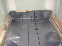 How to Install a Shower Pan Liner -- Photos, PVC Liner ...
