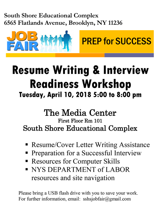 Resume Writing  Interview Readiness Workshop John Dewey High School