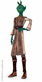 Jedi Master Bolla Ropal: Model, UVs