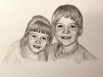 Birch Siblings Drawing Commission