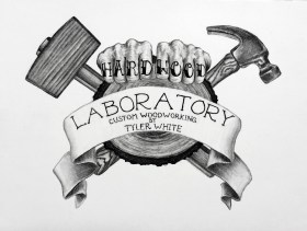 Charcoal Drawing Commission of Logo