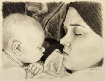 Jessica & Gracie Drawing