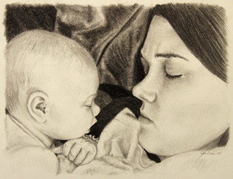 Jessica & Gracie Drawing