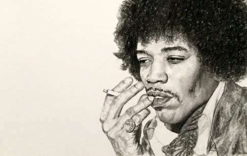 Jimi Hendrix Portrait Drawing