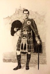 Scottish Soldier Drawing