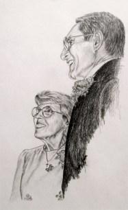 Helen and Bernard Drawing