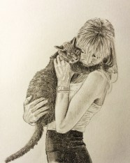 Cat Owner Drawing