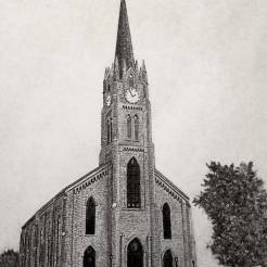 Church-Pencil-Drawing-by-John-Gordon