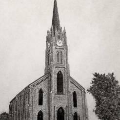 Church-Pencil-Drawing-by-John-Gordon