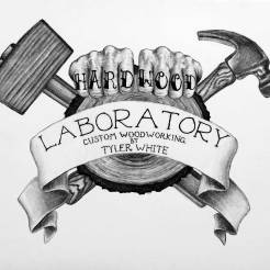 Hardwood-Laboratory-Charcoal-Logo-Drawing-by-John-Gordon