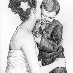 Jake-and-Mackenzie-Memorial-Portrait-Drawing-by-John-Gordon