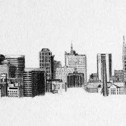 Nashville-Tennessee-Skyline-Drawing-by-John-Gordon