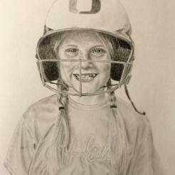 RedditGetsDrawn-Girl-Baseball-Portrait-Drawing-by-John-Gordon