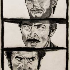 The-Good-The-Bad-And-The-Ugly-Pencil-Drawing-by-John-Gordon