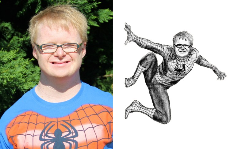 RedditGetsDrawn Spiderman Creative Portrait Drawing Comparison