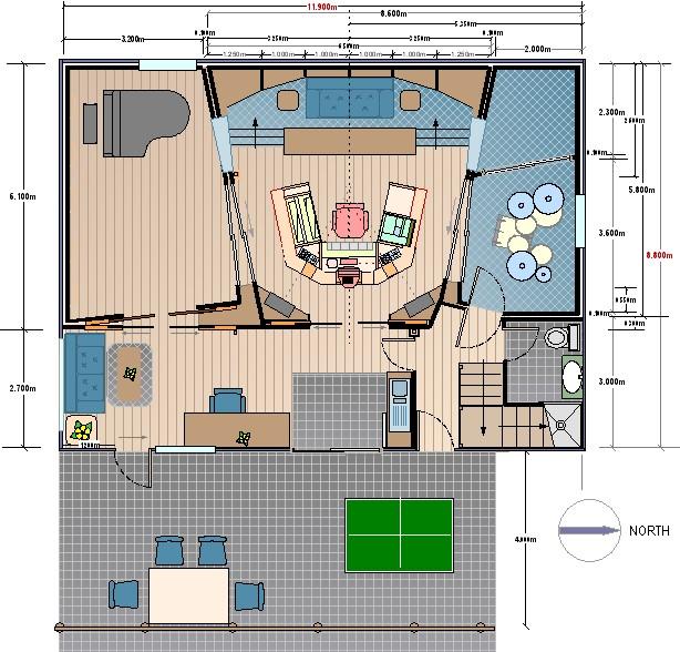 Home Recording Studio Design Plans Cool Design Of Small Recording - best of blueprint design for mac