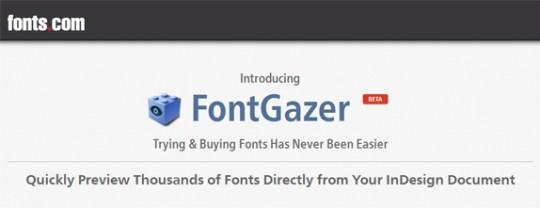 Monotype's FontGazer plugin