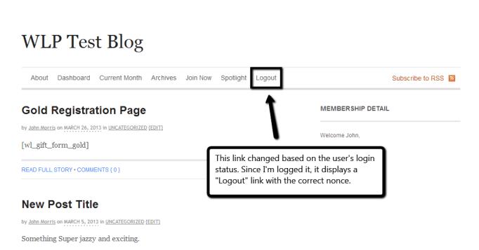 Adding a Login/Logout Link