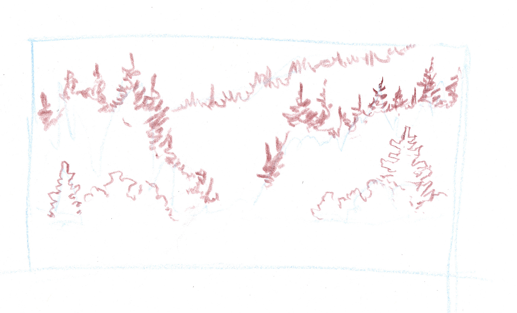 Easy Forest Tree Drawing These Trees Will Stand in