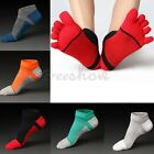 5Pairs Men's Five Finger Toe Socks Cotton Ankle Casual Sports Low Cut Breathable